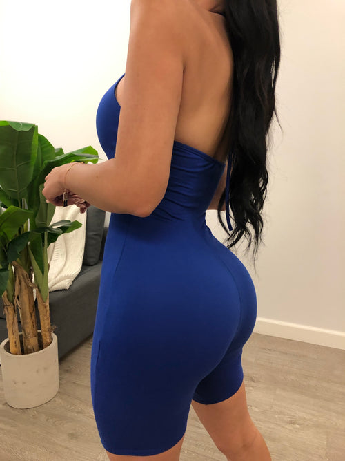 Jenna Halter Romper (Royal Blue)
