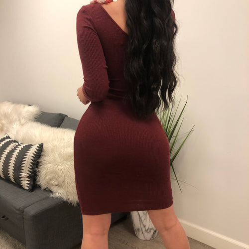 Gloria Dress (Burgundy)