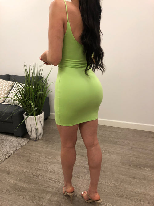 Kendall Basic Dress(LIME)