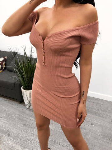 Selena Dress (Dark Red)