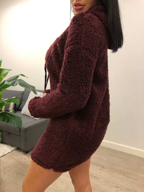 Amy Sweater Dress (Burgundy)