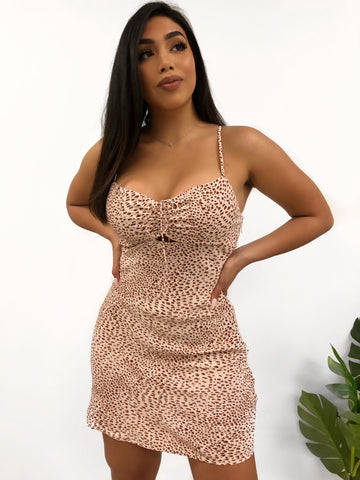 Daelyn Dress (Nude/Black)