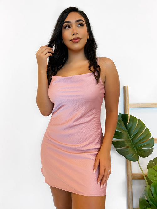 Kaelyn Dress (D. Pink)