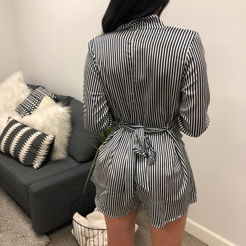 Stephy Stripped Romper