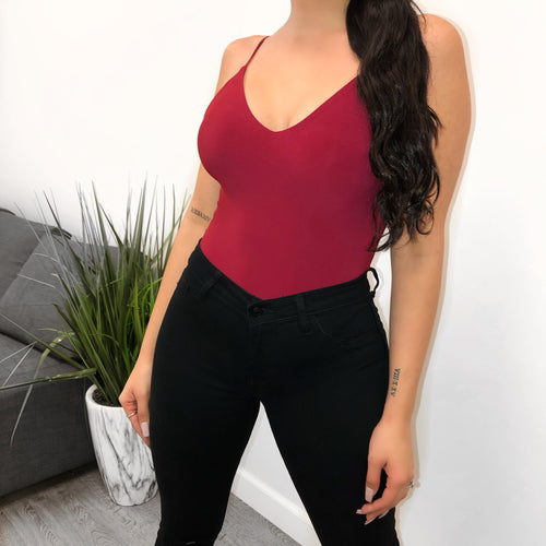 Angelina Bodysuit (Burgundy)