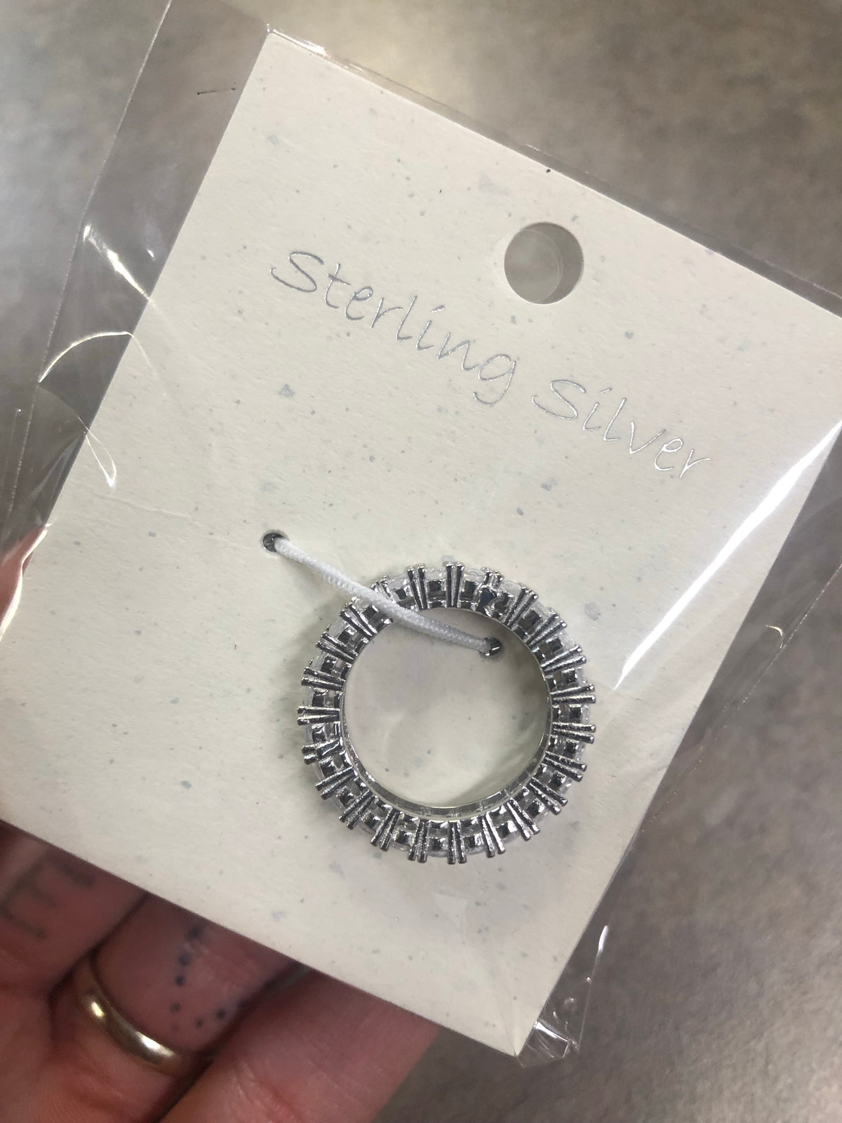 circle ring with diamond studs all around the ring