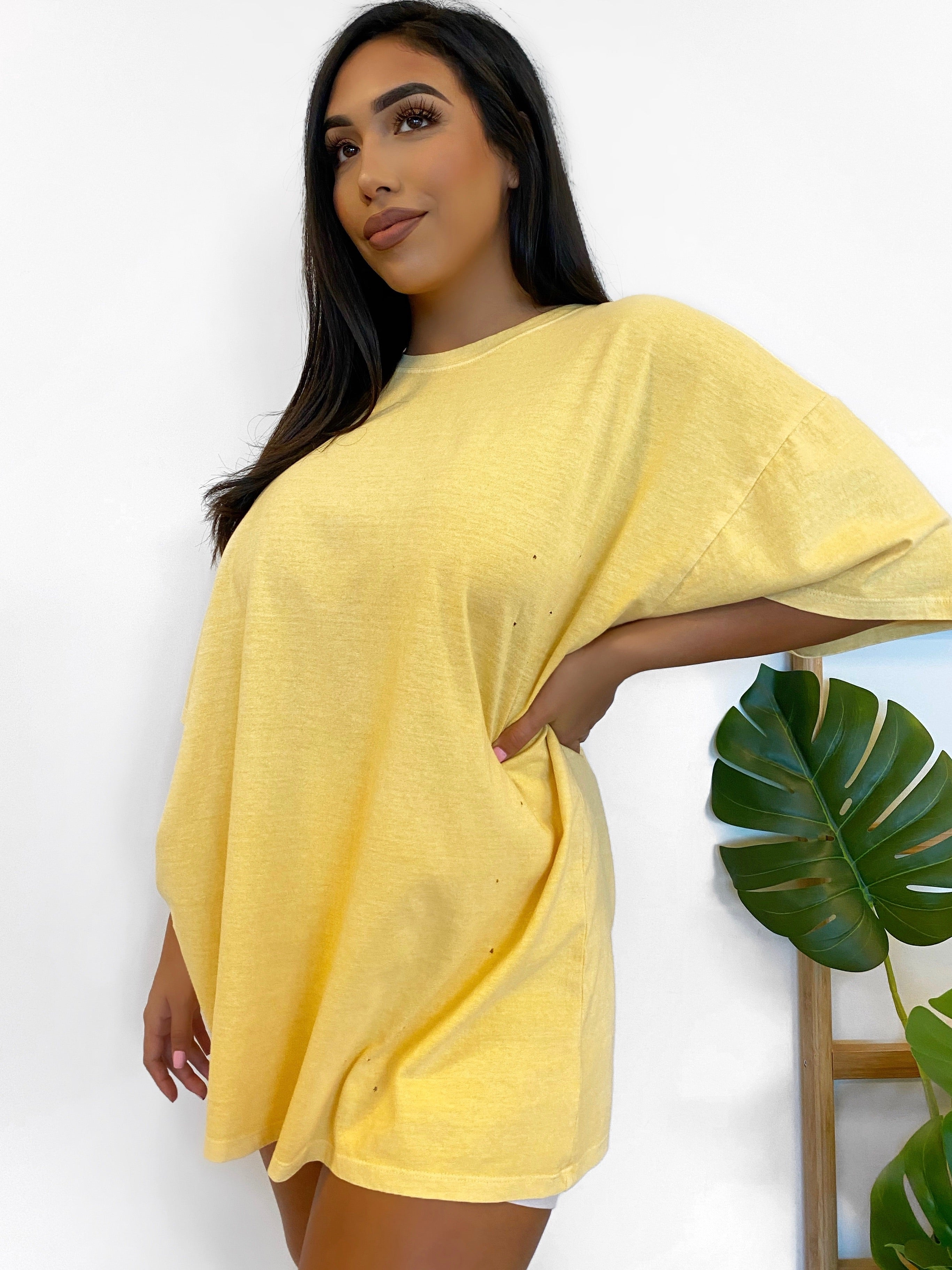 Ariella Oversize T-Shirt (Yellow)