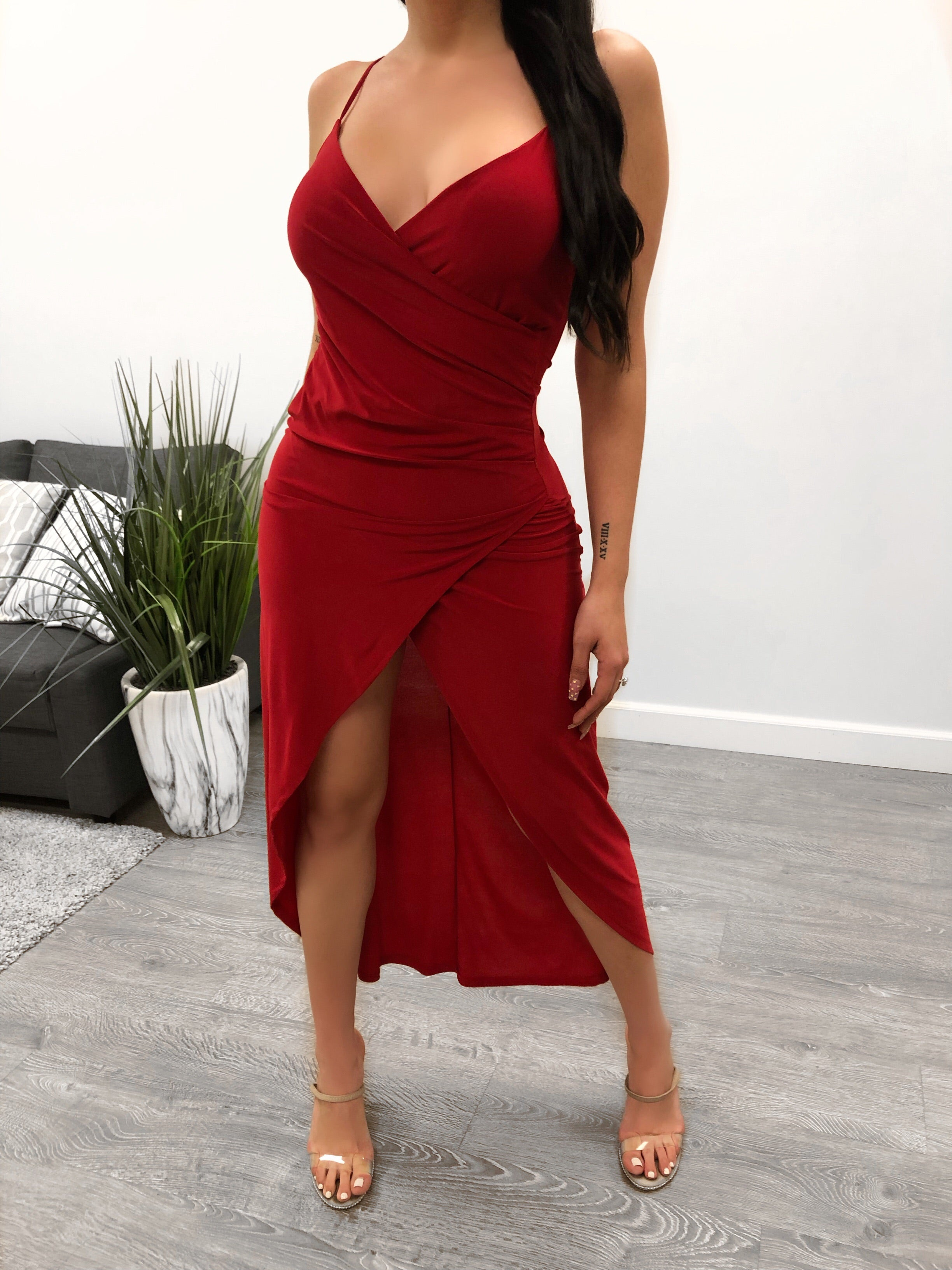 Mandy Night Out Dress (red)