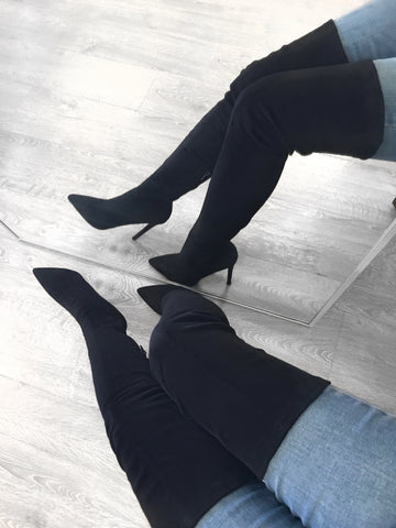Norvina Booties (black leather)