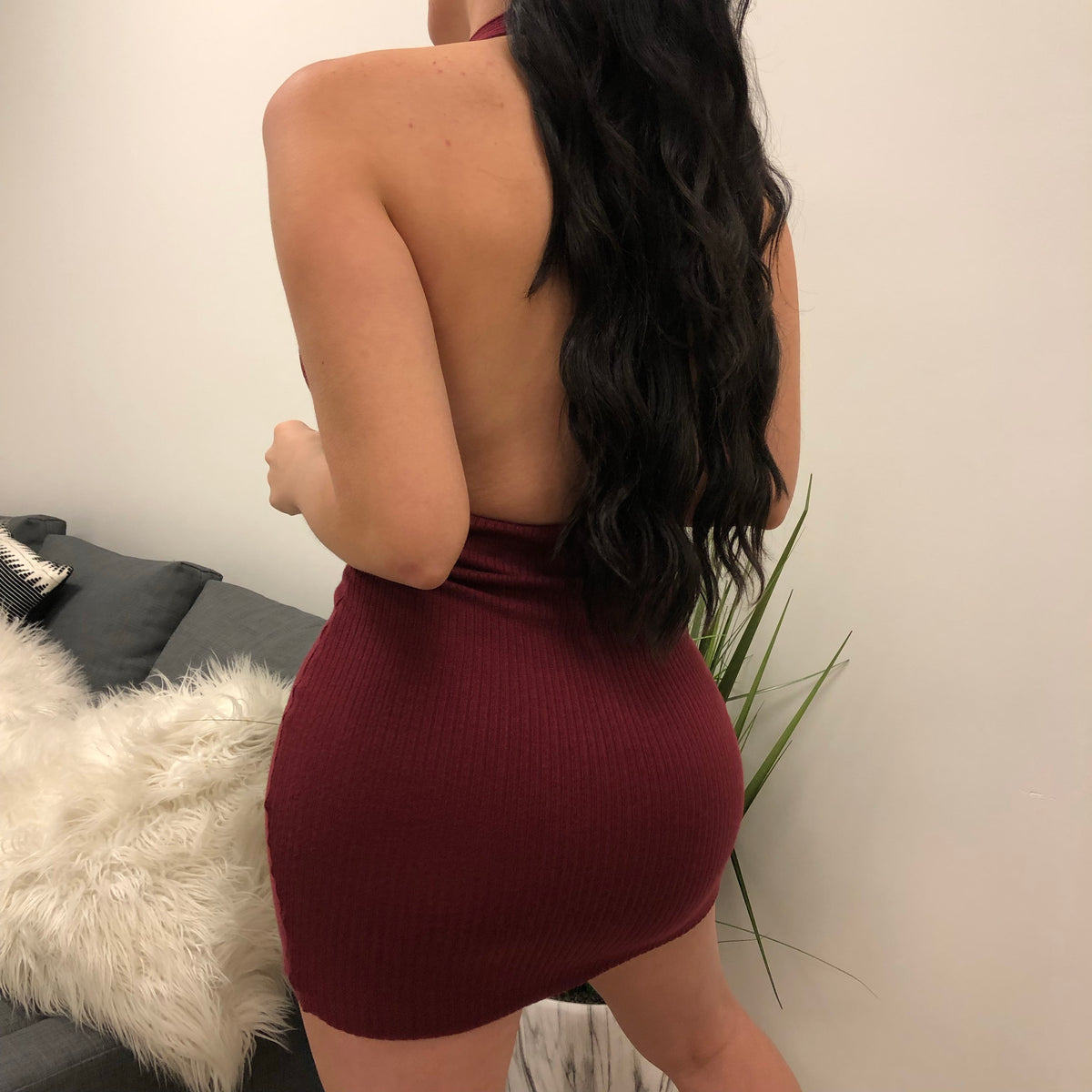 Desi Dress (Burgundy)