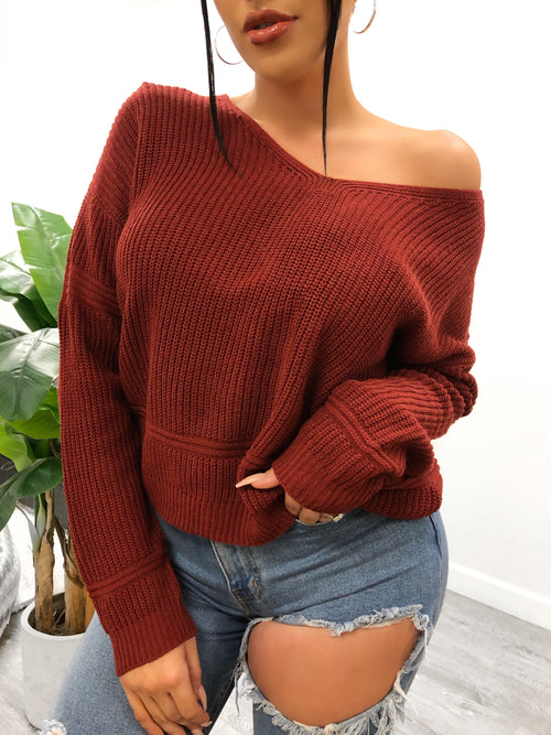 Terry Sweater (Brick)