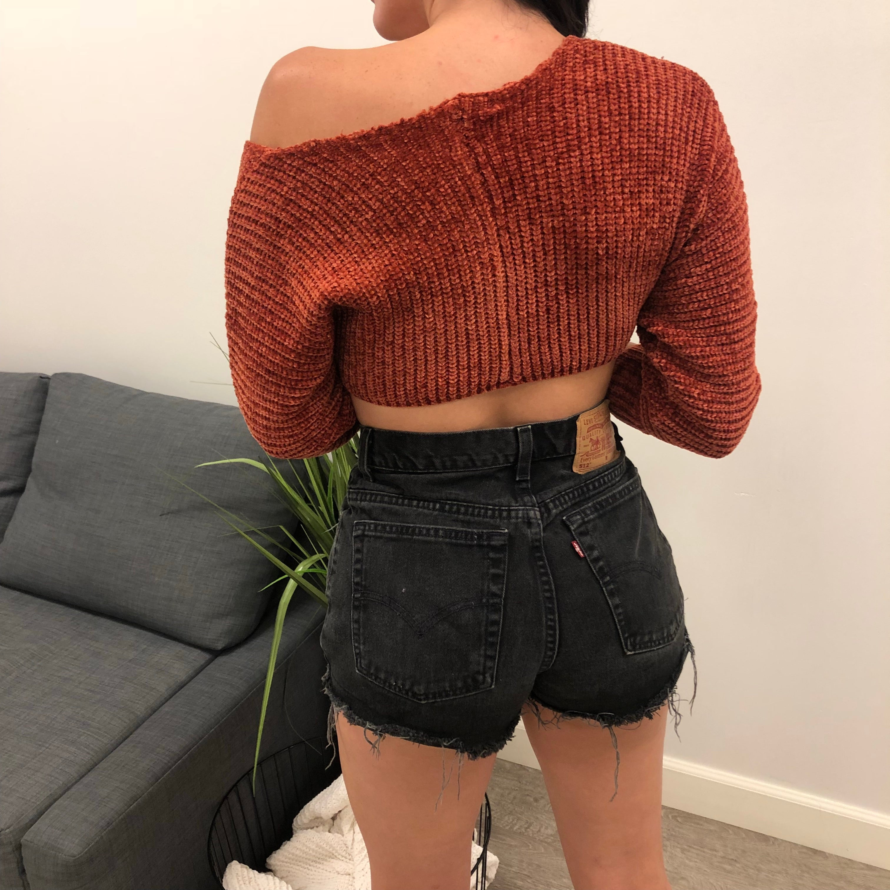 Mone Crop Sweater (black)