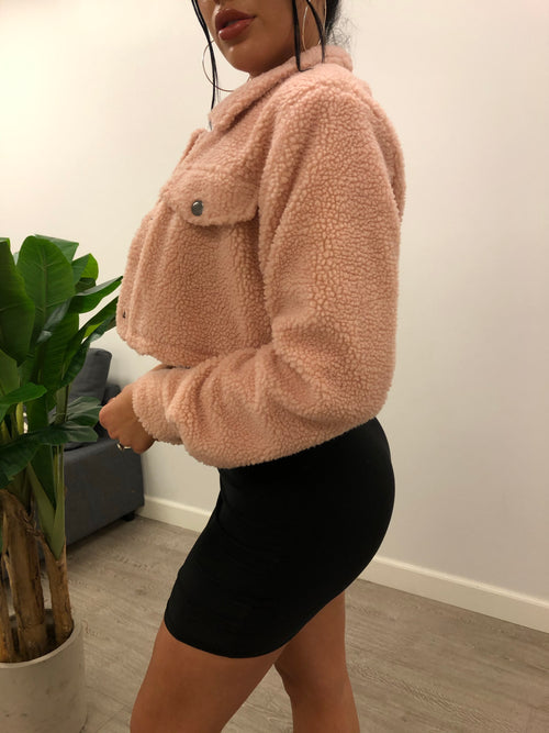Melissa Crop Jacket (Dusty Pink)