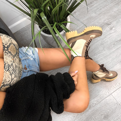 Laylah Booties (Nude Croco)