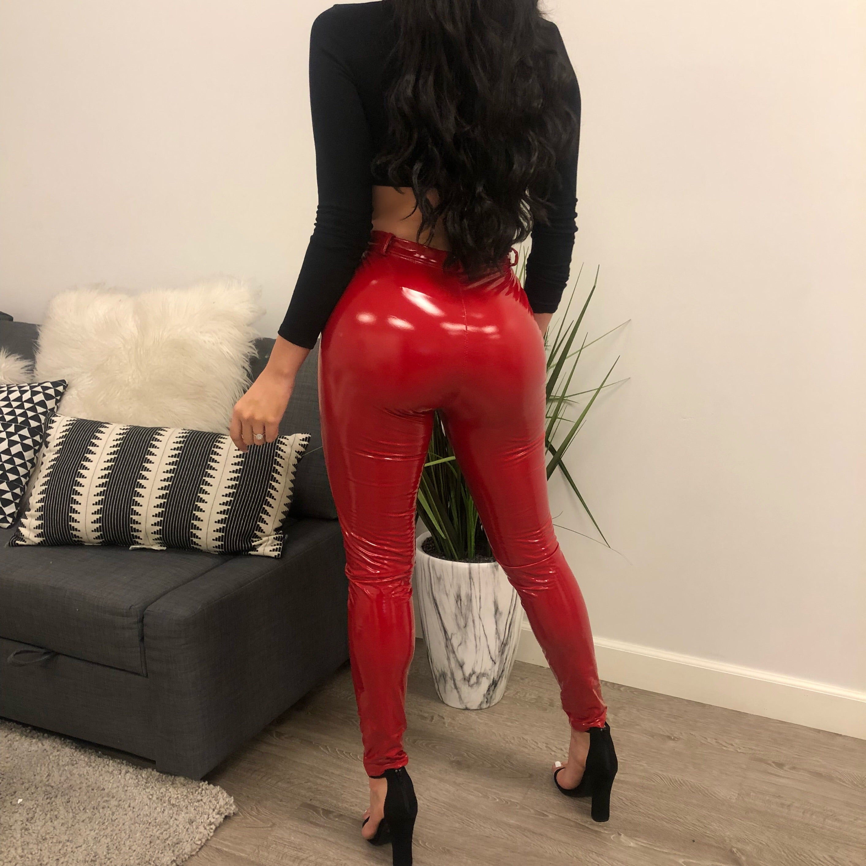 Senia Latex Pants (red)