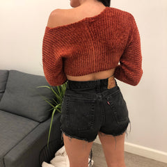 Mone Crop Sweater (rust)