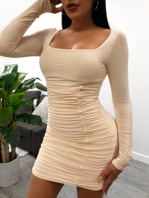 Tana Dress (Nude)