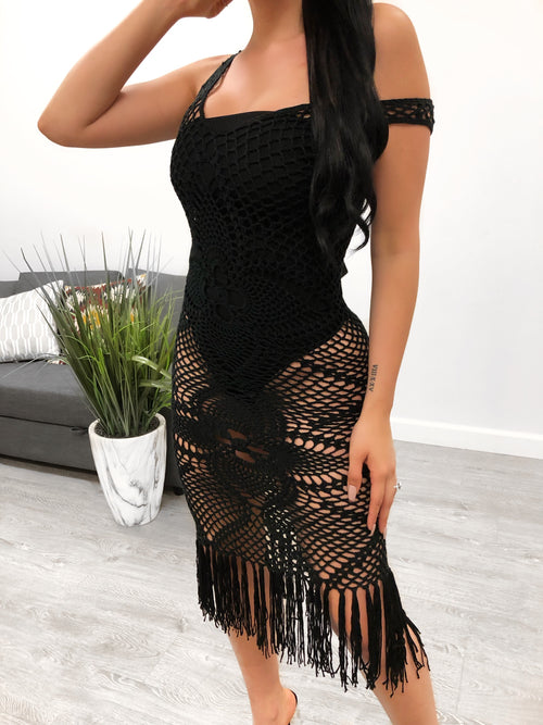Brielle Crochet Dress (black)