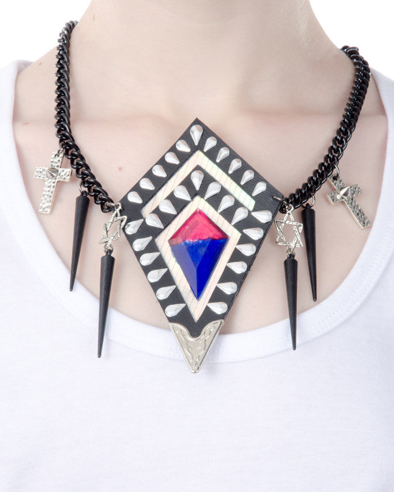 METAL DIAMOND NECKLACE - Eros Mortis