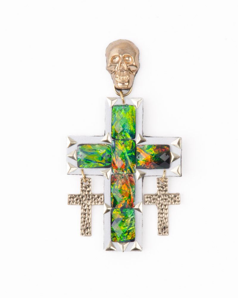 SCHILLER CROSS EARRINGS - Eros Mortis