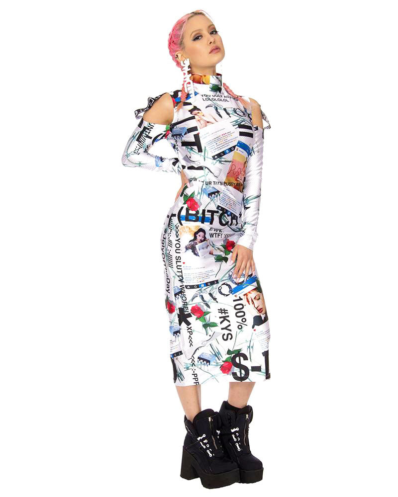 KY$ CYBER BULLY DRESS - Eros Mortis