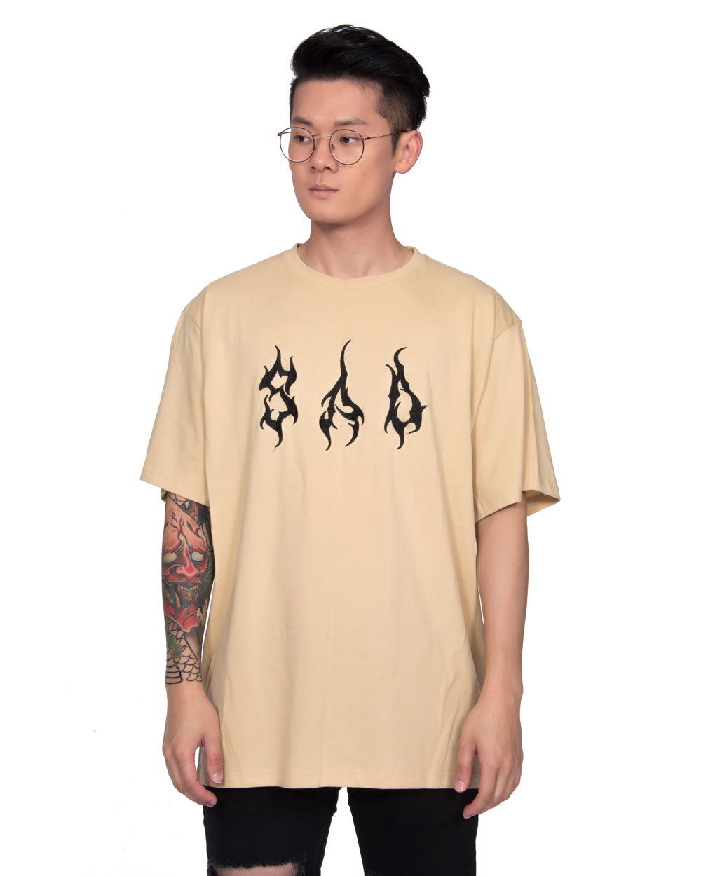 SAD BEIGE T-SHIRT