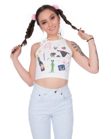 ALL OVER ART BABY CROPPED TOP