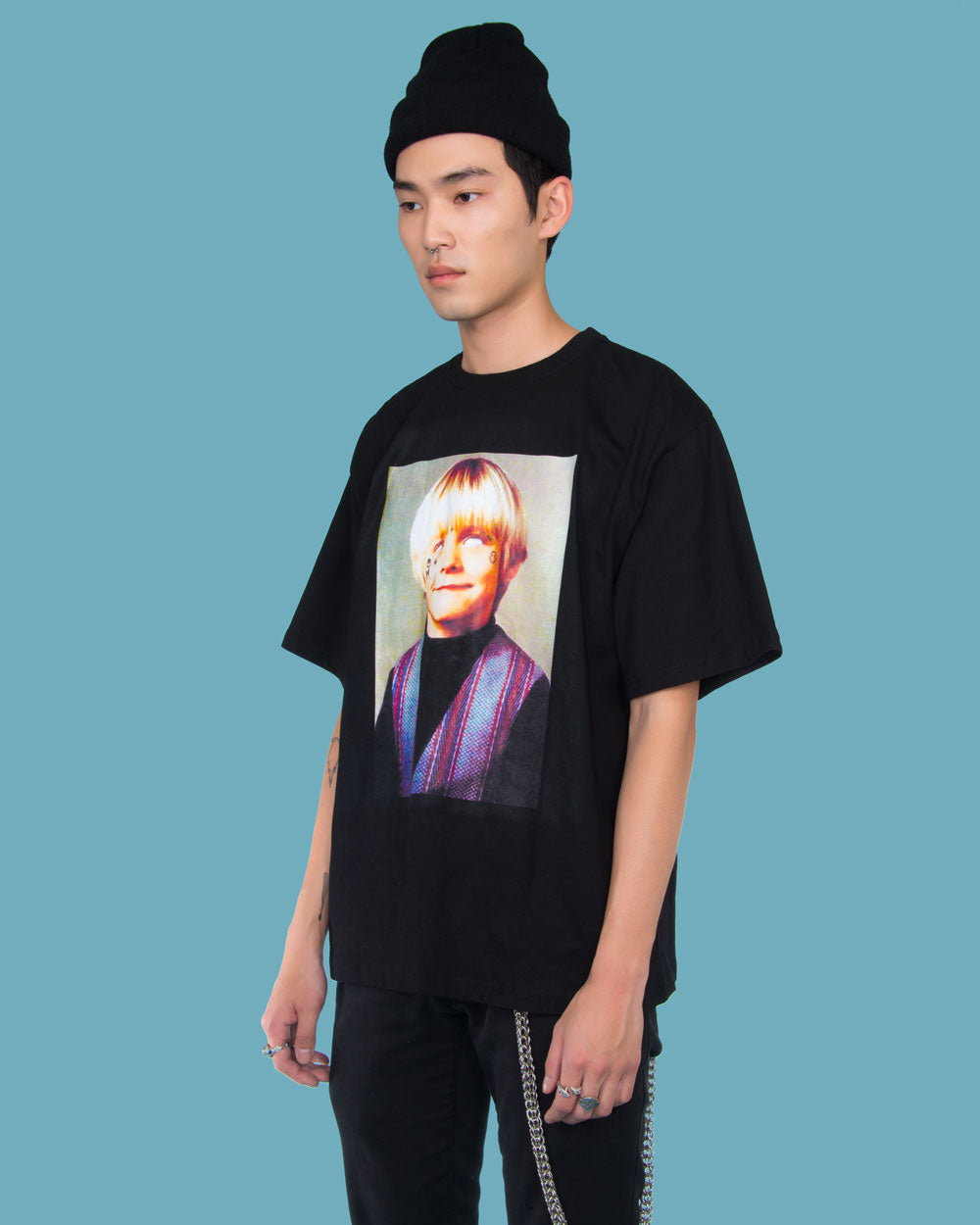 YOUNG COBAIN OVERSIZED TEE - Eros Mortis
