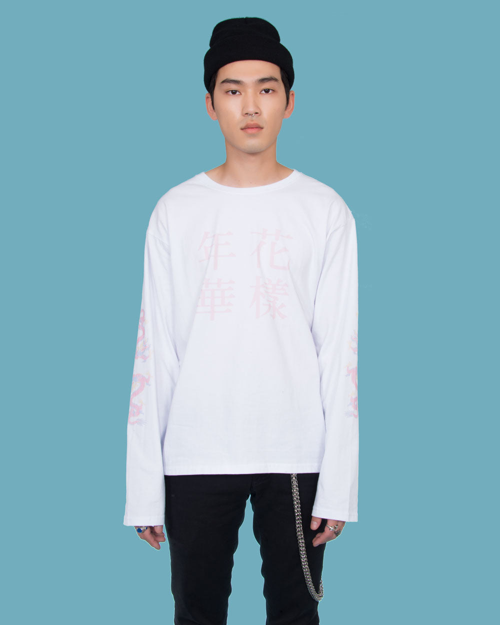 IN THE MOOD FOR LOVE LONG SLEEVE WHITE T-SHIRT
