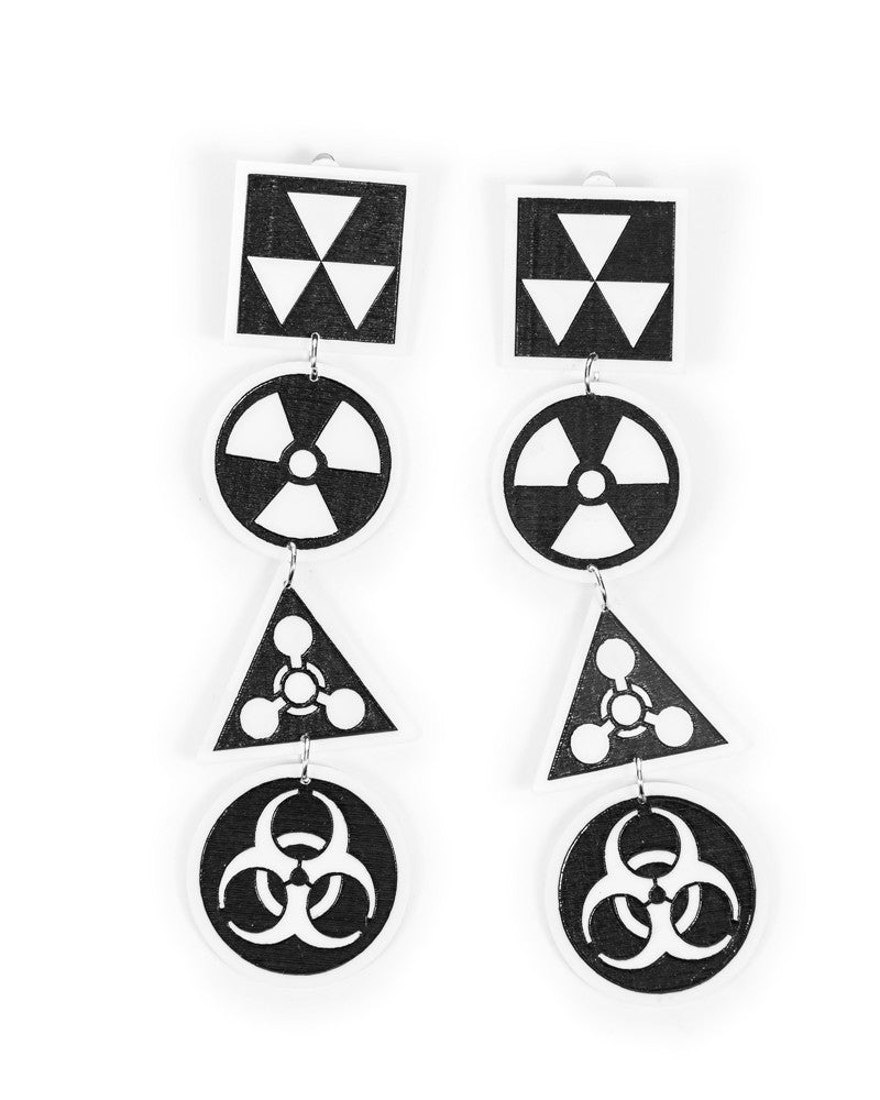 WMD 4 SYMBOL EARRINGS - Eros Mortis