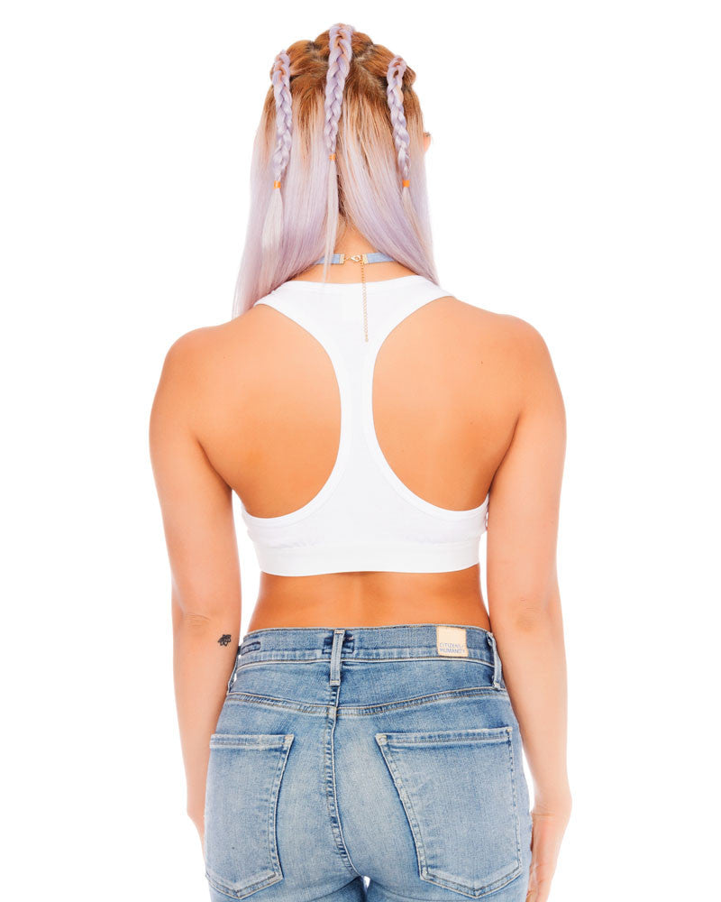 SUGOI CROP TANK WHITE