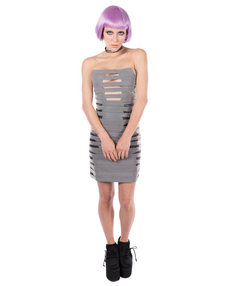 MKF REFLECTIVE BONDAGE DRESS - Eros Mortis