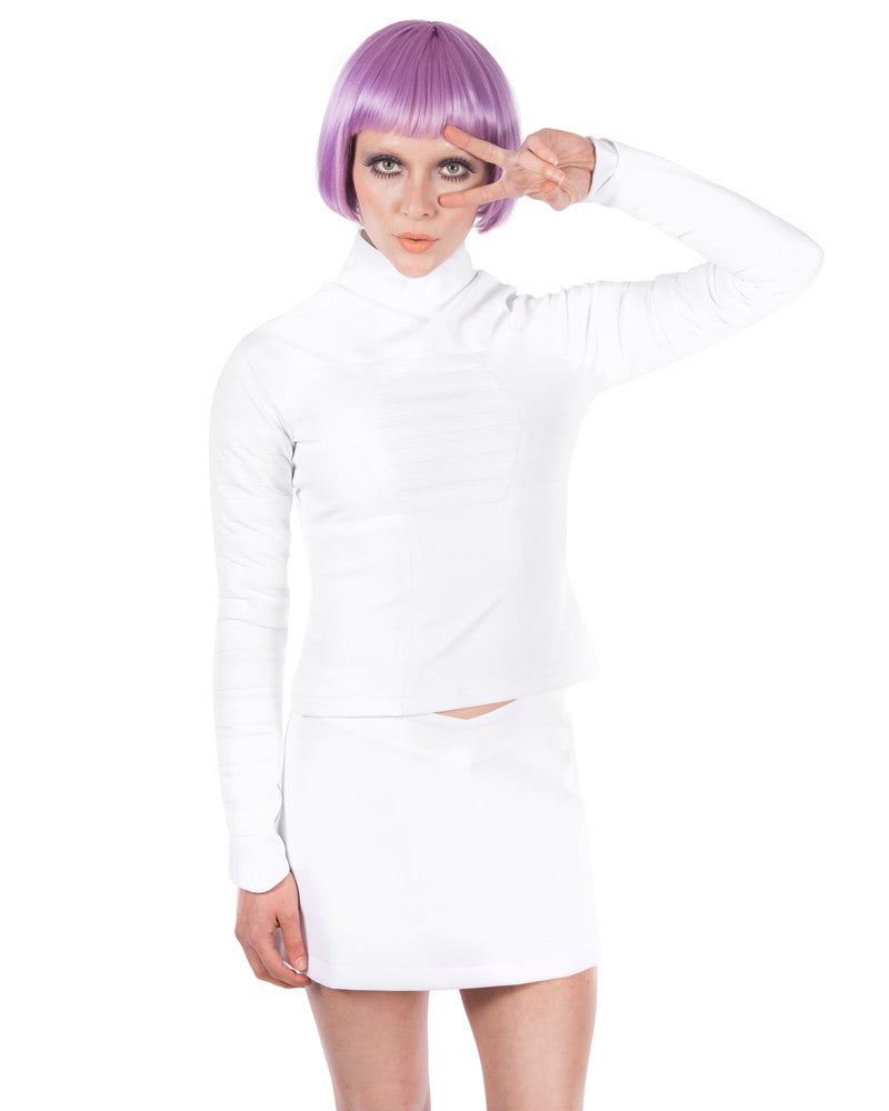 MKF WHITE OUT SKIRT - Eros Mortis