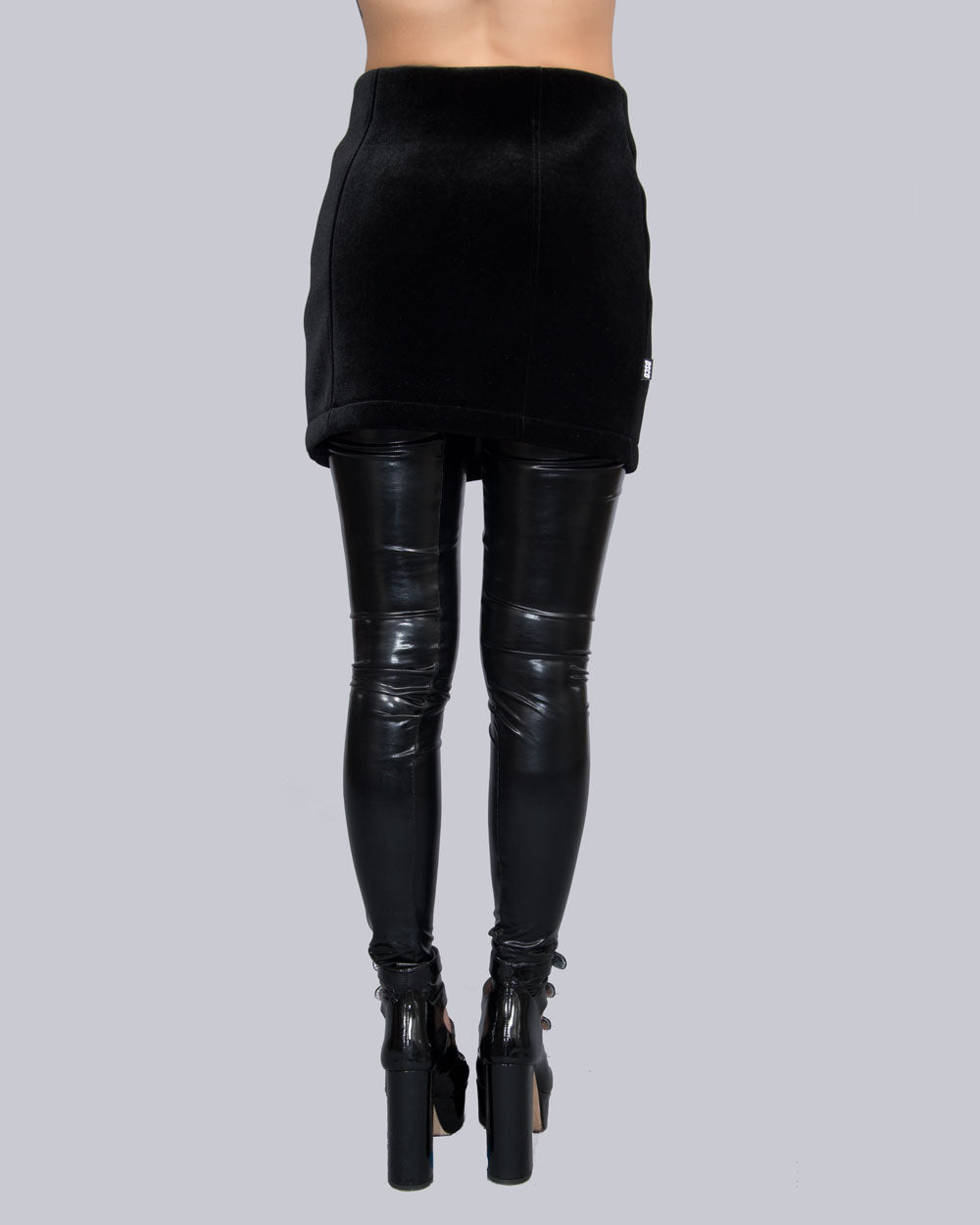 VELOUR ZIPPER SKIRT - Eros Mortis
