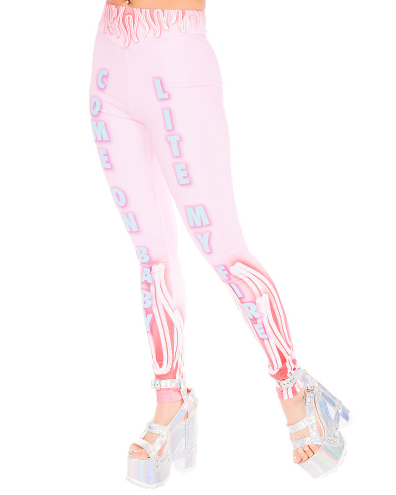 LIGHT MY FIRE LEGGINGS - Eros Mortis