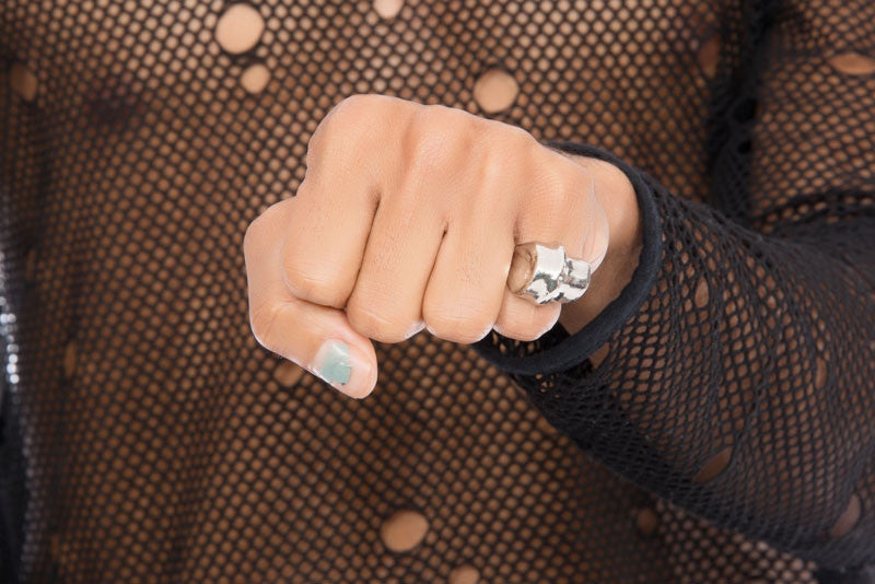 KNUCKLE SILVER RING
