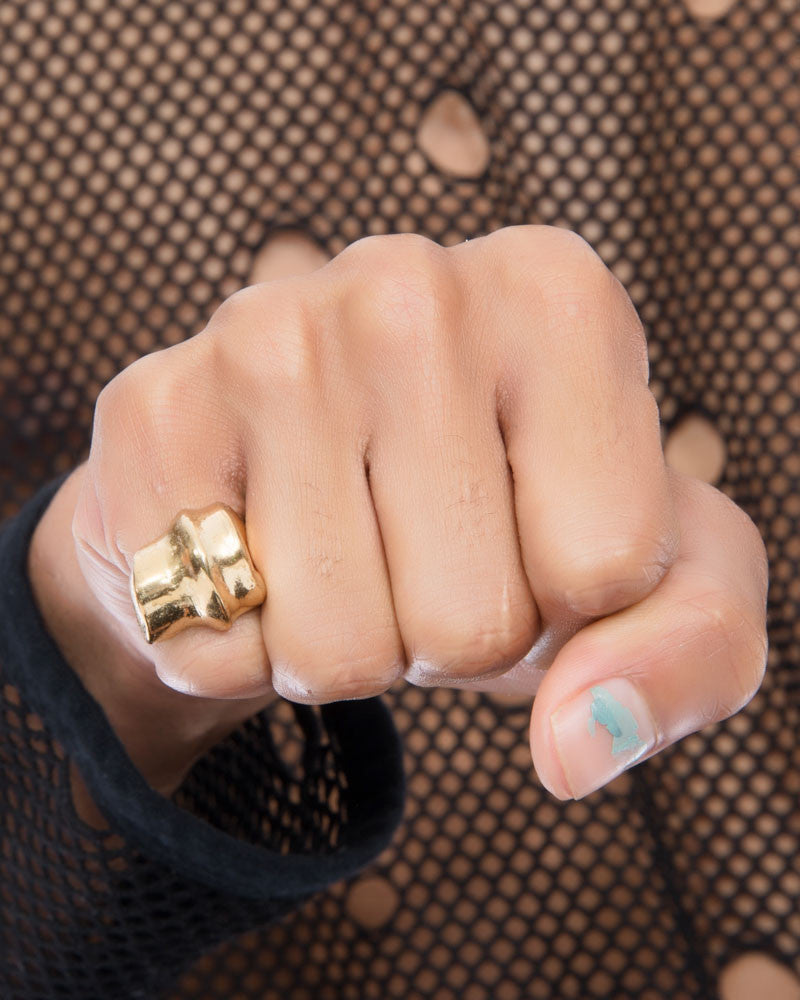 KNUCKLE GOLD RING