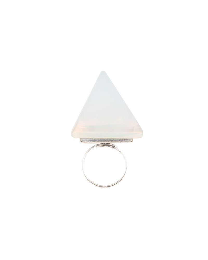 OPALITE PYRAMID POWER RING - Eros Mortis