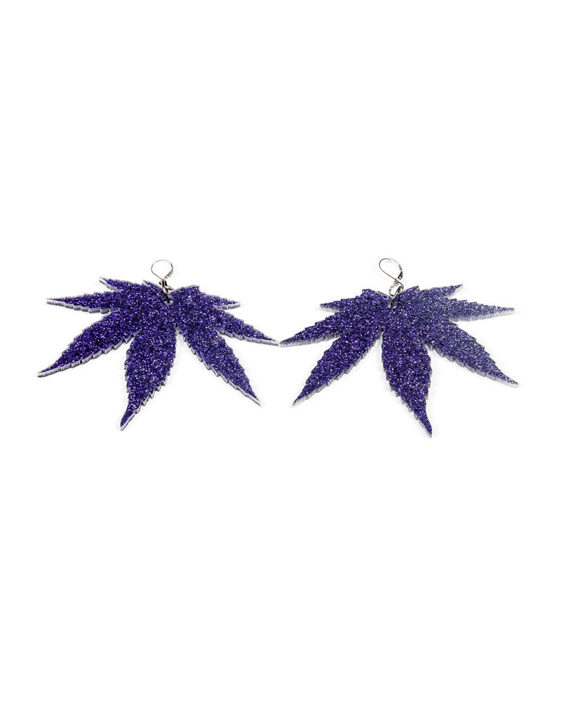 WEED LEAF EARRINGS - Eros Mortis