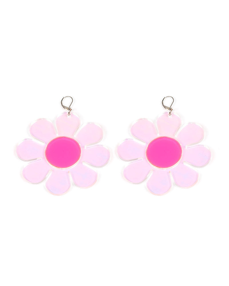 HOLOGRAPHIC FLOWER POWER EARRINGS - Eros Mortis