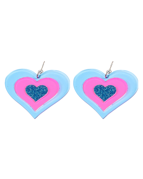 BLUE HEART BREAKER EARRINGS - Eros Mortis