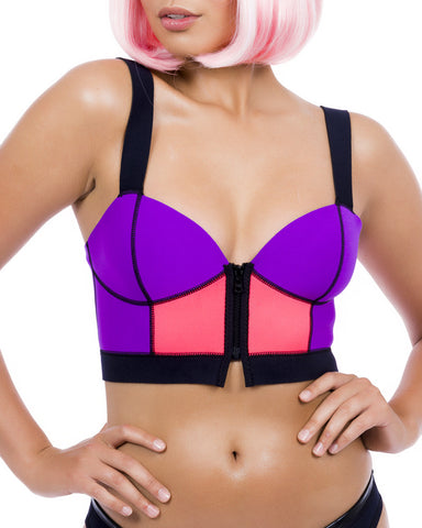 ZIP FRONT BUSTIER TOP SWIM SET - Eros Mortis
