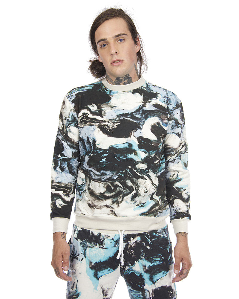 CLAY PRINT UNISEX SWEAT SHIRT - Eros Mortis
