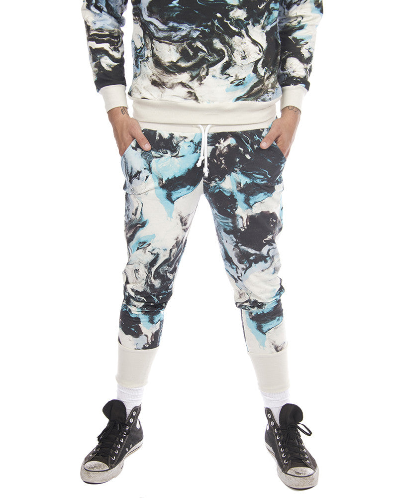CLAY PRINT UNISEX SWEAT PANTS - Eros Mortis