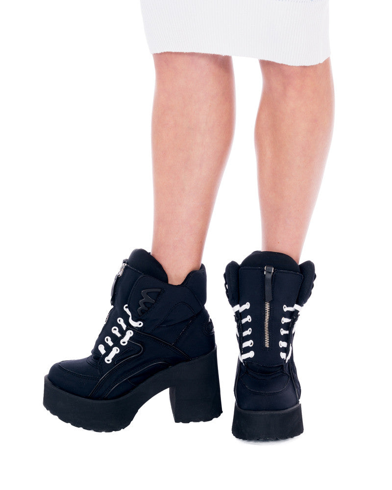 MkF x BUFFALO BLACK OUT HIGH CUT PLATFORMS - Eros Mortis