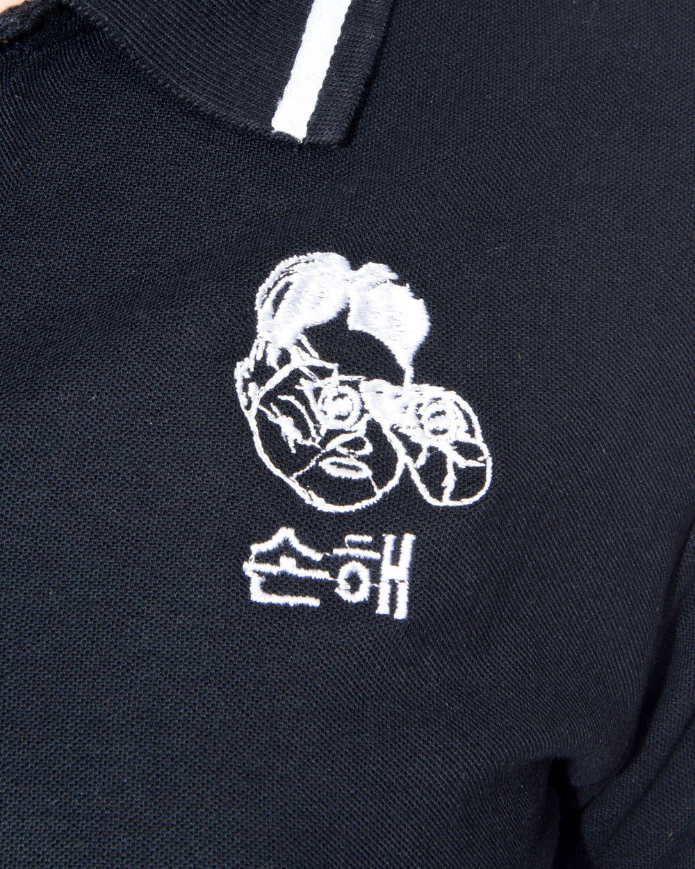 PYONGYANG LEADER CROPPED BLACK POLO TEE