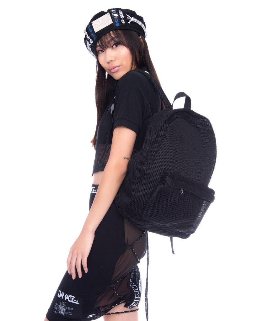 MESH BACKPACK BLACK