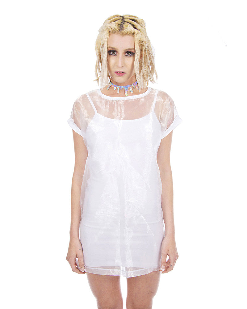 WHITE OUT SHEER DRESS - Eros Mortis