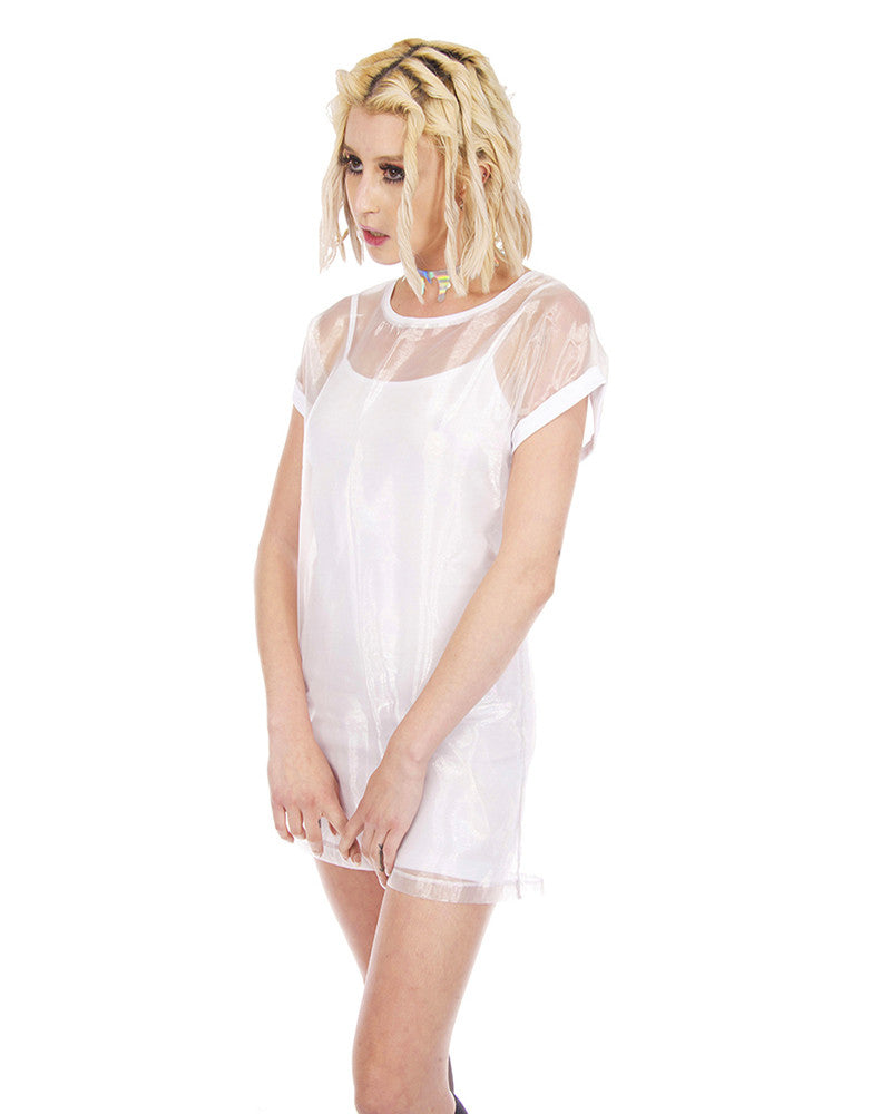 WHITE OUT SHEER DRESS
