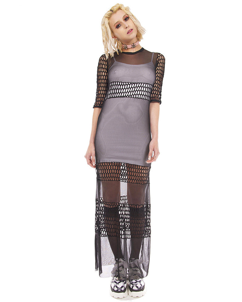LOLITA SHEER MAXI DRESS - Eros Mortis